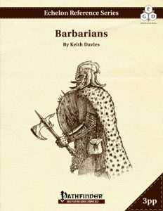Echelon Reference Series: Barbarian (3pp+PRD) cover