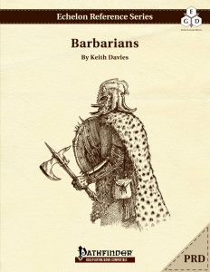 Echelon Reference Series: Barbarian (PRD-Only) cover
