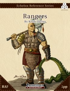 Echelon Reference Series: Ranger (3pp+PRD, RAF) cover